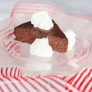 Chocolate Torte with whipped fresh organic heavy whipping cream