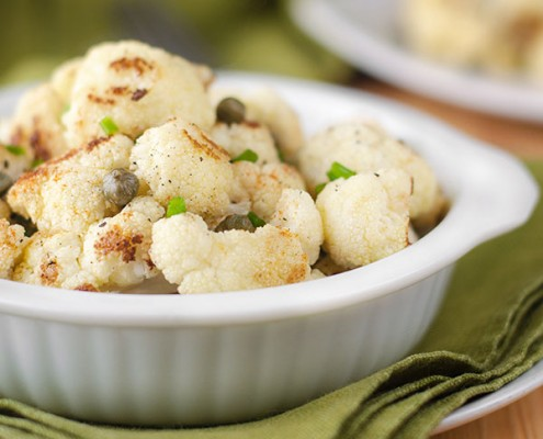 Roasted Cauliflower With Garlic And Caper Sauce