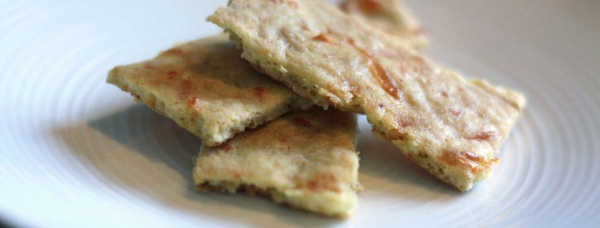 Cheesy Paleo Crackers