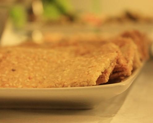 Crunchy Sesame Crackers