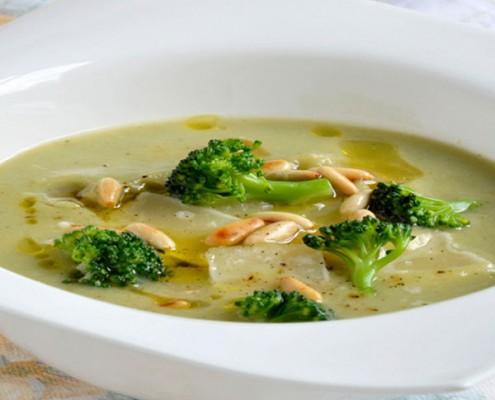 Broccoli & Pine-Nut Soup