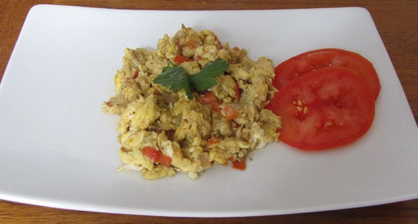 Scrambled Eggs Masala