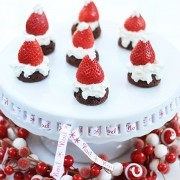 Santa Strawberries on Maximized Brownies