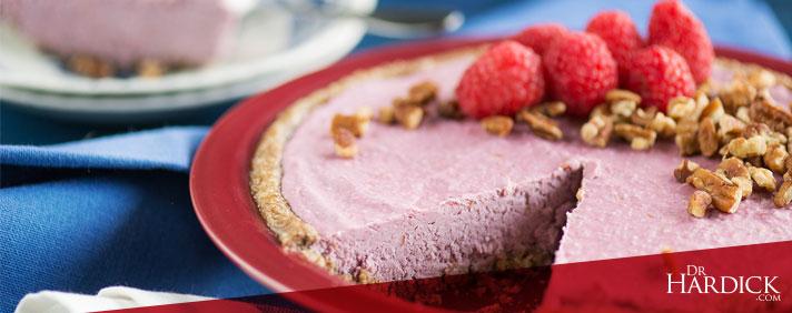 Raw, Vegan & Organic Raspberry Cream Pie