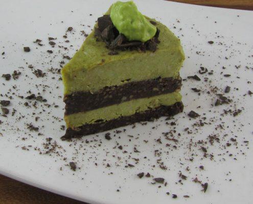 Chocolate Mint Cream Layer Cake