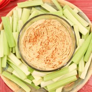 Classic Hummus with celery