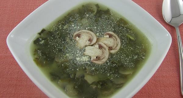 Kale Mushroom Soup