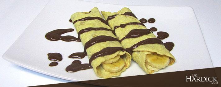 Paleo Banana Crepes with Chocolate Fudge Sauce