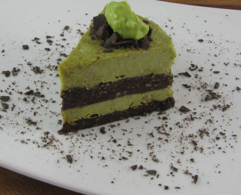 Chocolate Mint Cream Layer Cake