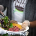 vegan middleeastern dish at vegfest in london ontario