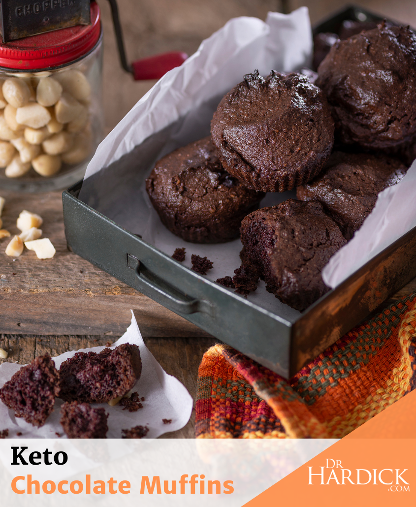 Keto Chocolate Muffins in tray