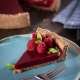Grain Free Raspberry Pomegranate Pie on Plate