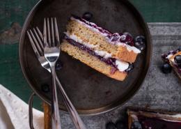 Grain-Free Blueberry Coconut Layer Cake